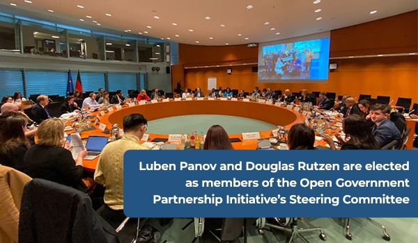 Luben Panov and Douglas Rutzen are elected as members of the Open Government Partnership Initiative's Steering Committee