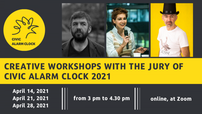 Creative workshops with the jury of CIVIC ALARM CLOCK